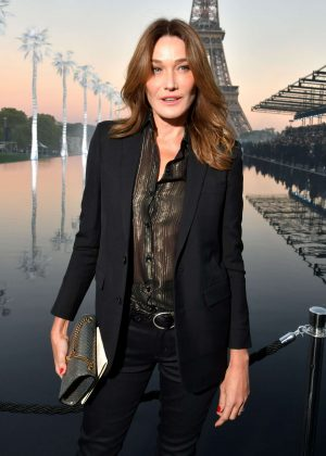 Carla Bruni - Saint Laurent Fashion Show in Paris