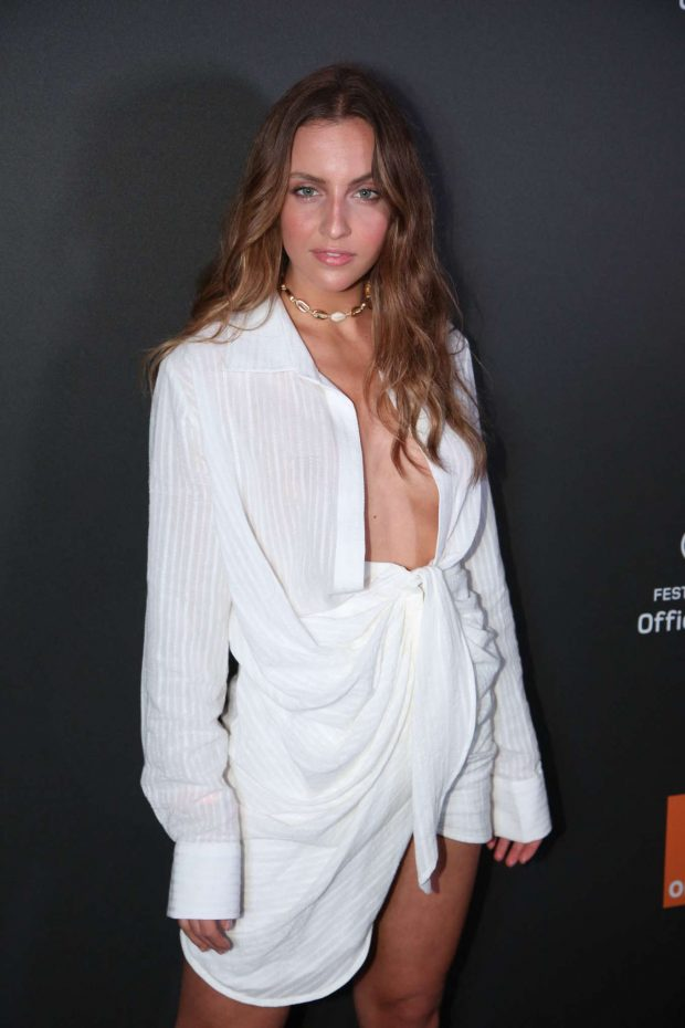 Carla Ginola - Orange Party held at Plage Majestic at 2019 Cannes Film Festival