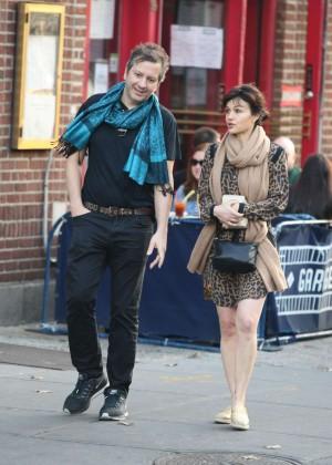 Carla Gugino and Sebastian Gutierrez - Shopping in New York