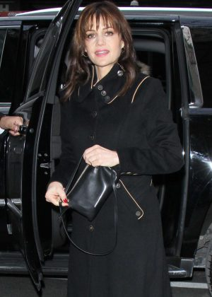 Carla Gugino - Arrives at NBC's Today Show in New York