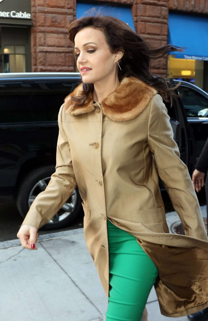 Carla Gugino at AOL Build Studios to Promote 'The Space Between Us' in NYC