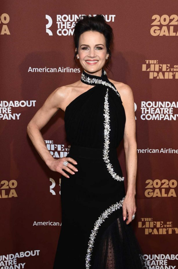 Carla Gugino - Roundabout Theater's 2020 Gala in NYC