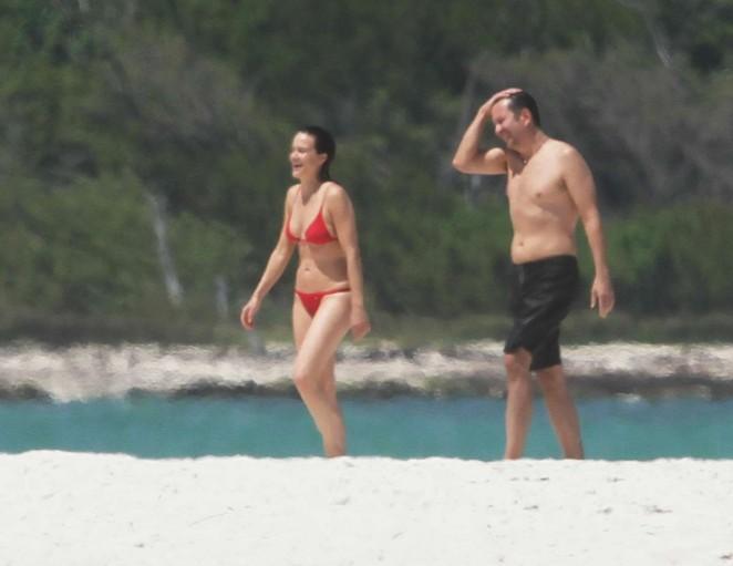 Carla Gugino In Bikini