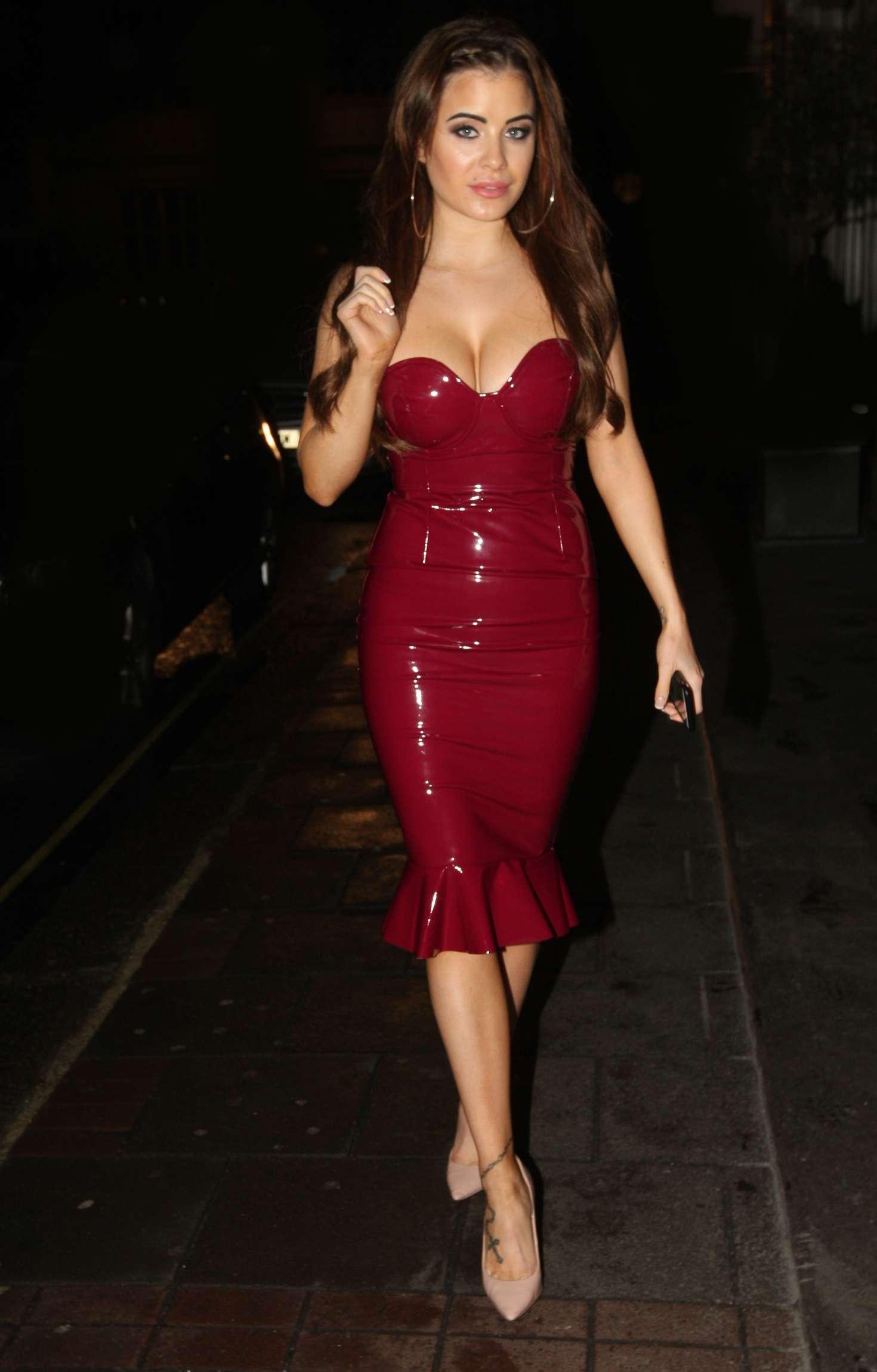 Carla Howe in Red Latex Dress -02 - GotCeleb