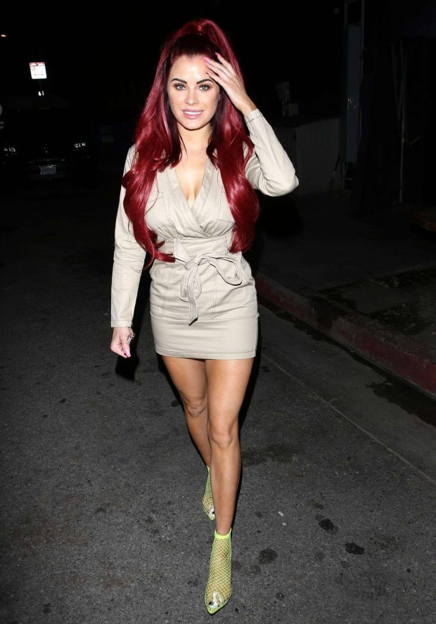 Carla Howe - Leaving The Nice Guy bar in Los Angeles