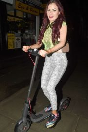Carla Howe on XIAOMI E Scooter - Out in London