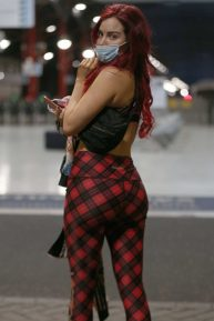 Carla Howe - Out in London wearing a mask