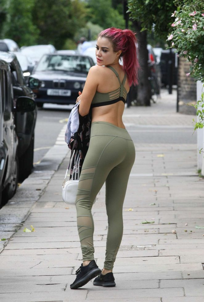 Carla Howe out in Mayfair