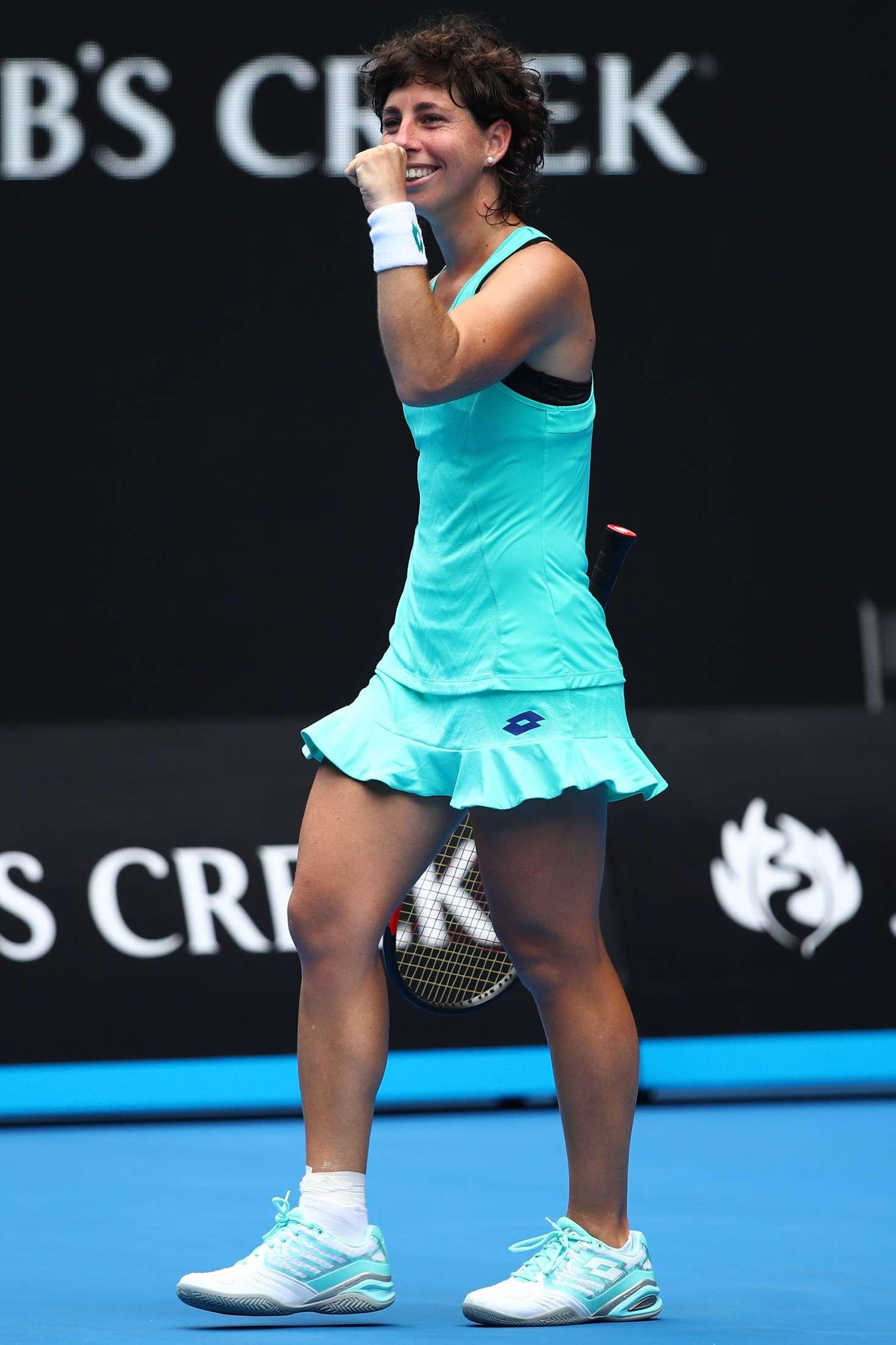 Carla Suarez Navarro: 2018 Australian Open Day 7 -07 | GotCeleb