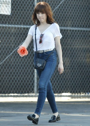 Carly Rae Jepsen in Tight jeans Out in Silverlake