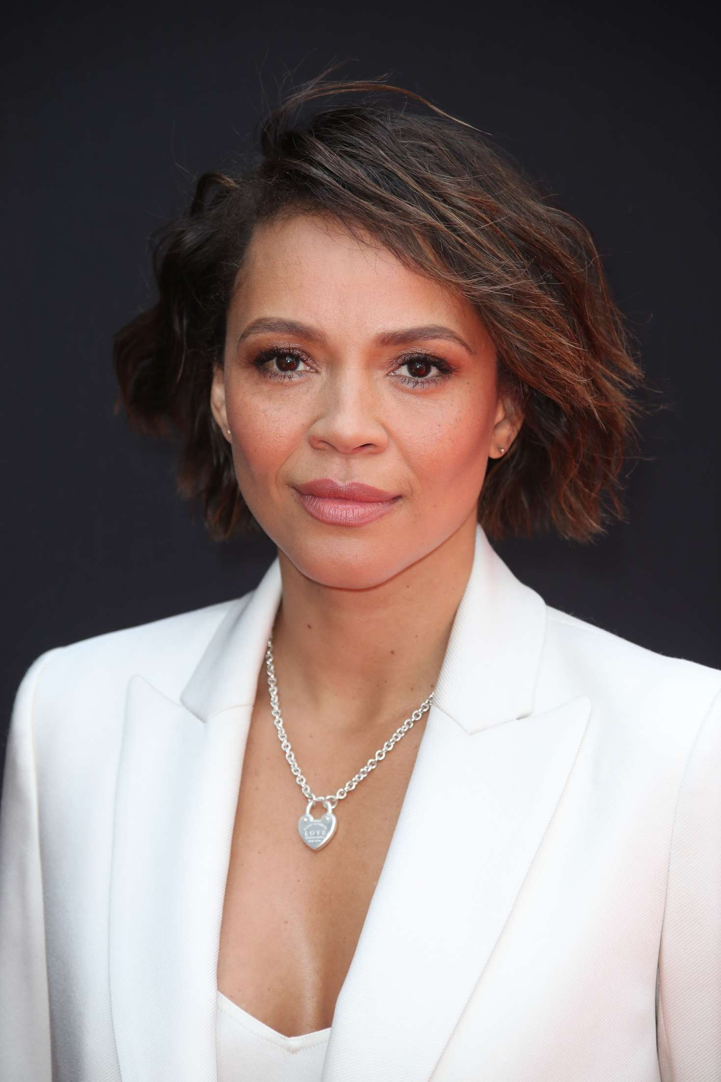 Carmen Ejogo at Sir Ridley Scott hand and footprint ceremony in Hollywood