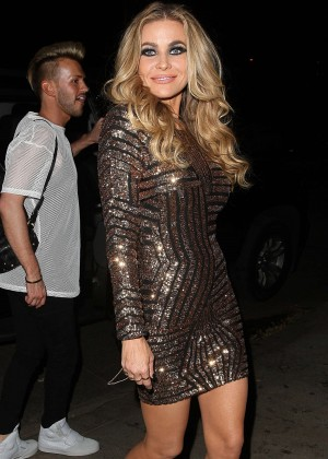 Carmen Electra in Mini Dress Outside Hooray Henrys in LA