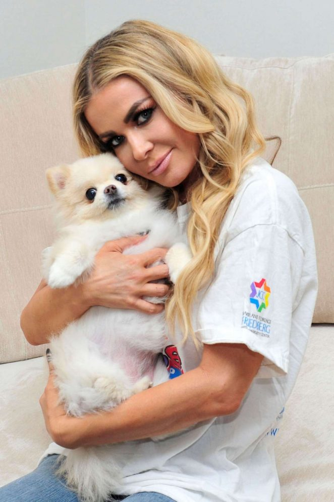 Carmen Electra - Photoshoot With Her Dog Rocky