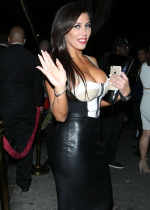 Carmen Ortega - Leaving Warwick Nightclub in LA