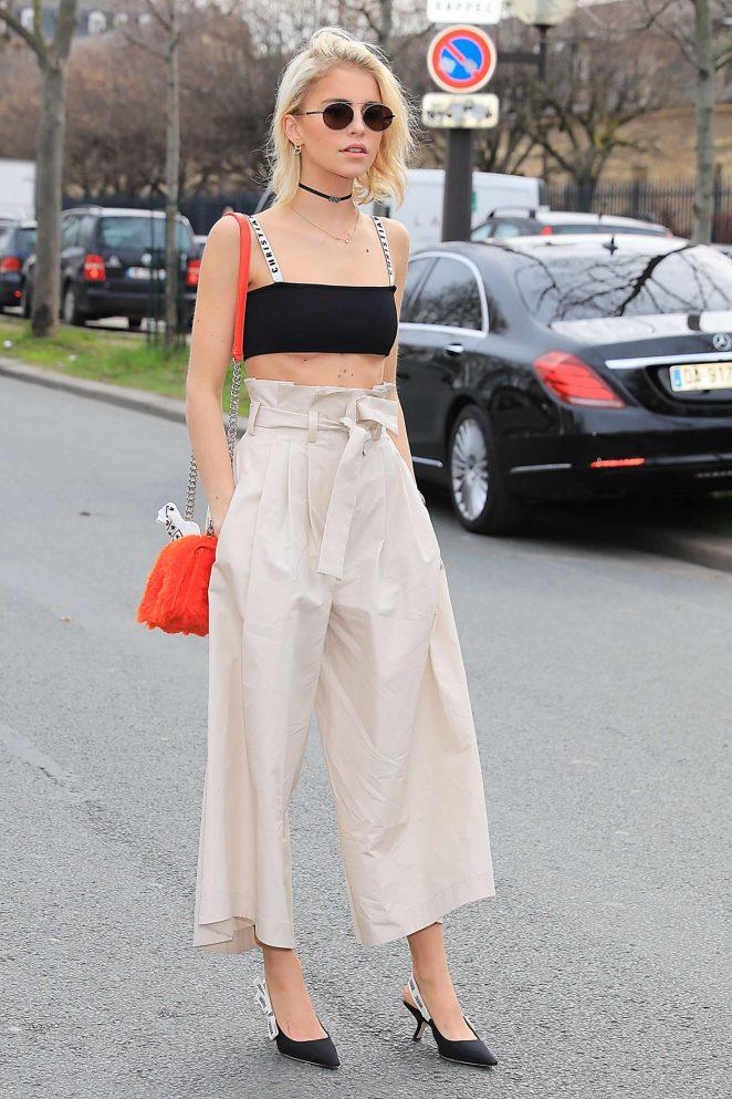 Caro Daur Leaving Dior Show in Paris