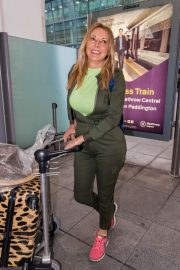 Carol Vorderman - Arriving at Heathrow Airport in London