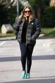 Carol Vorderman - Arriving at the BBC Radio Studios in Cardiff