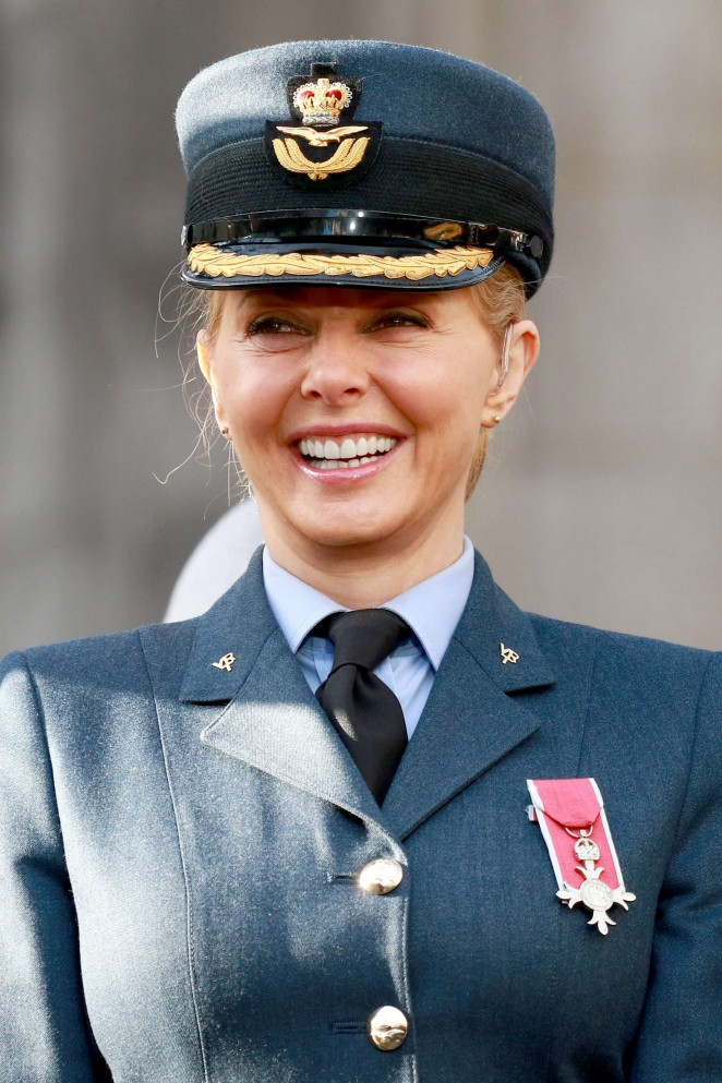 Carol Vorderman at 75th Anniversary of the RAF Air Cadets in London