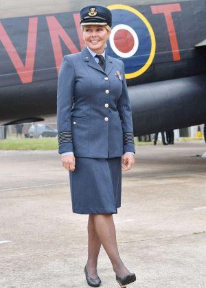 Carol Vorderman at Battle of Britain Memorial Flight in Lincolnshire