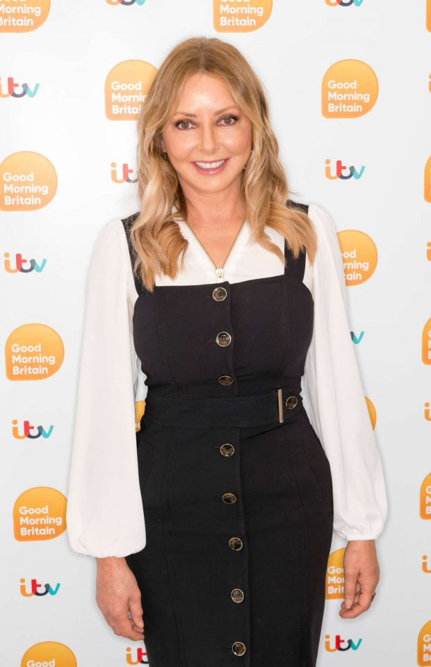 Carol Vorderman - Good Morning Britain TV Show in London