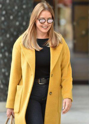 Carol Vorderman in Yellow Coat - ITV Studios in London