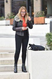Carol Vorderman - Leaves a London Hotel
