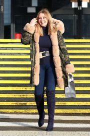 Carol Vorderman - Leaving The BBC Radio Wales Studios in Cardiff
