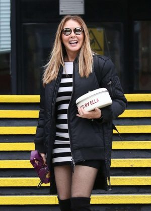 Carol Vorderman - Leaving The BBC Studios in Cardiff
