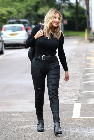 Carol Vorderman - Pictured at BBC Wales in Cardiff