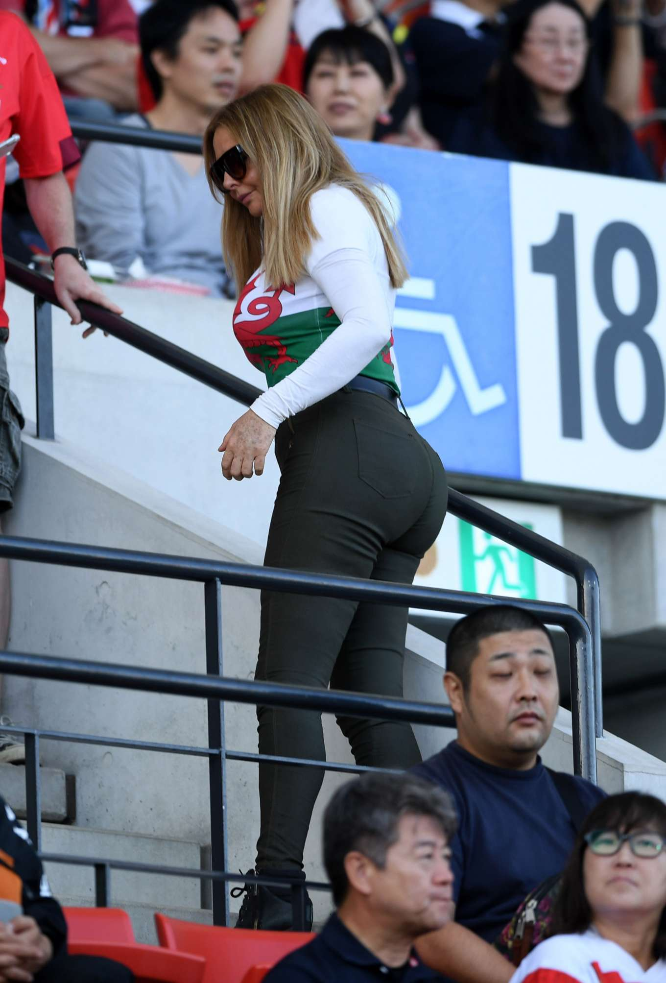 Carol Vorderman - Supporting Wales at the Rugby World Cup in Japan