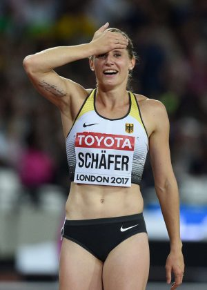 Carolin Schafer - Celebrates silver medal of the hepathlon at 2017 IAAF World Championships in London