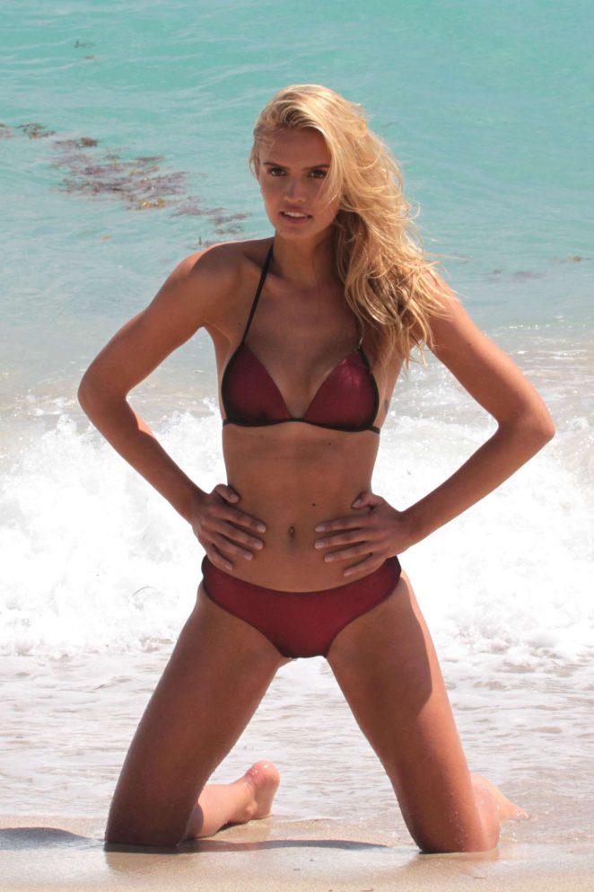 Carolina Lavinia - Bikini Photoshoot on Miami Beach