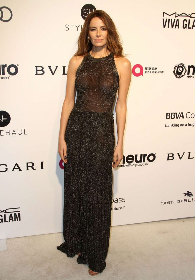 Carolina Parsons - 2017 Elton John AIDS Foundation's Oscar Viewing Party in West Hollywood
