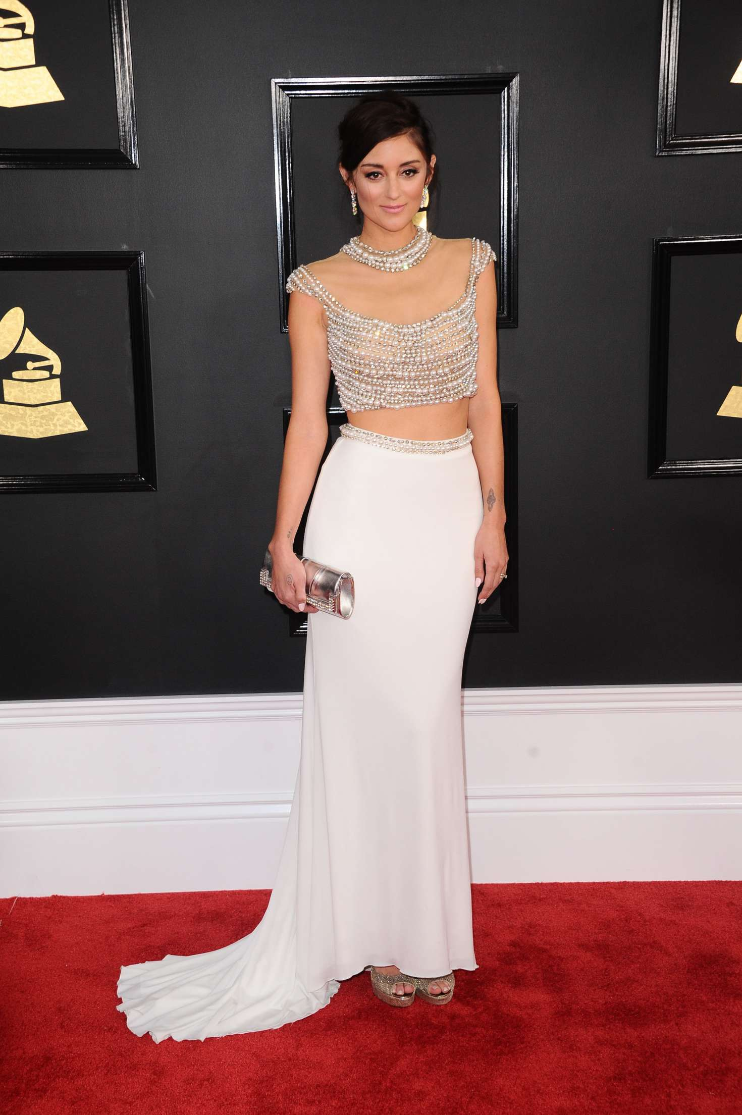 Caroline D'Amore 2017 : Caroline DAmore: 59th GRAMMY Awards -05