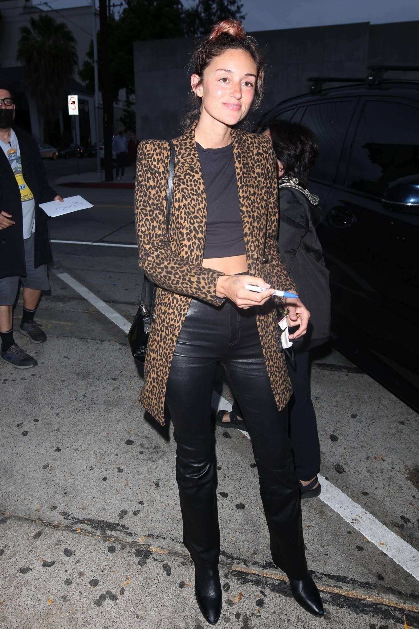 Caroline D'Amore - arrives at Craig's in West Hollywood