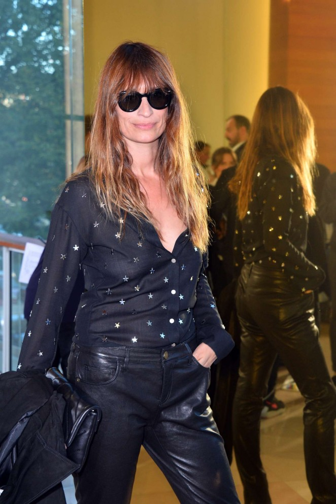 Caroline de Maigret - Anthony Vaccarello at PFW Spring/Summer 2016 in Paris