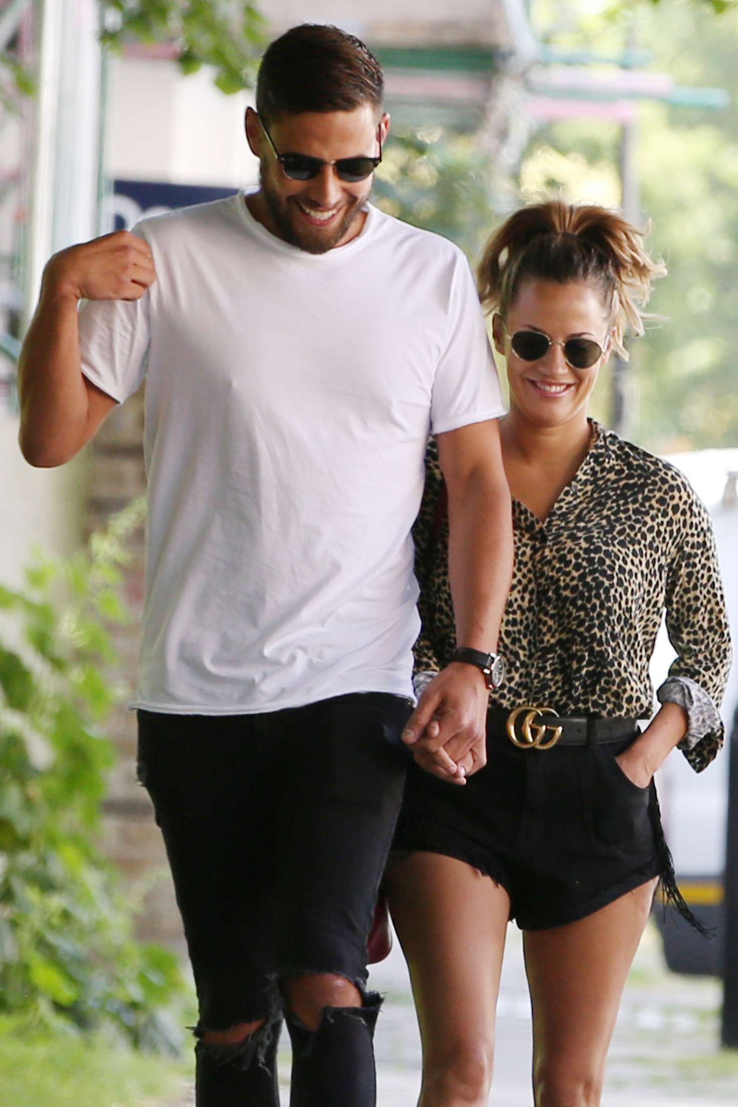 Caroline Flack and Andrew Brady - Out in London