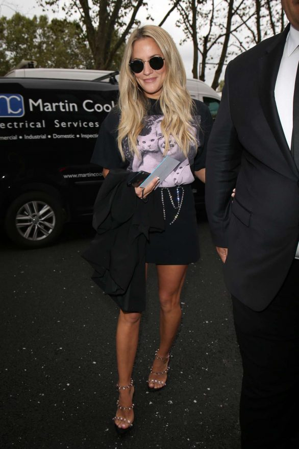 Caroline Flack - Arrives at Christopher Kane Show in London