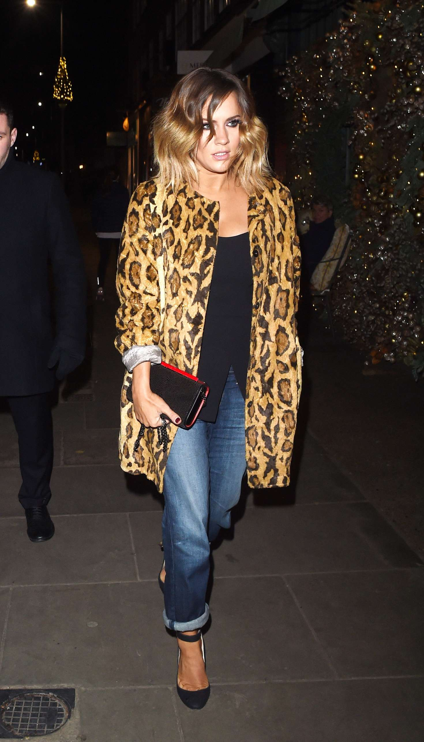 Caroline Flack - Arriving for Adidas Dinner in London