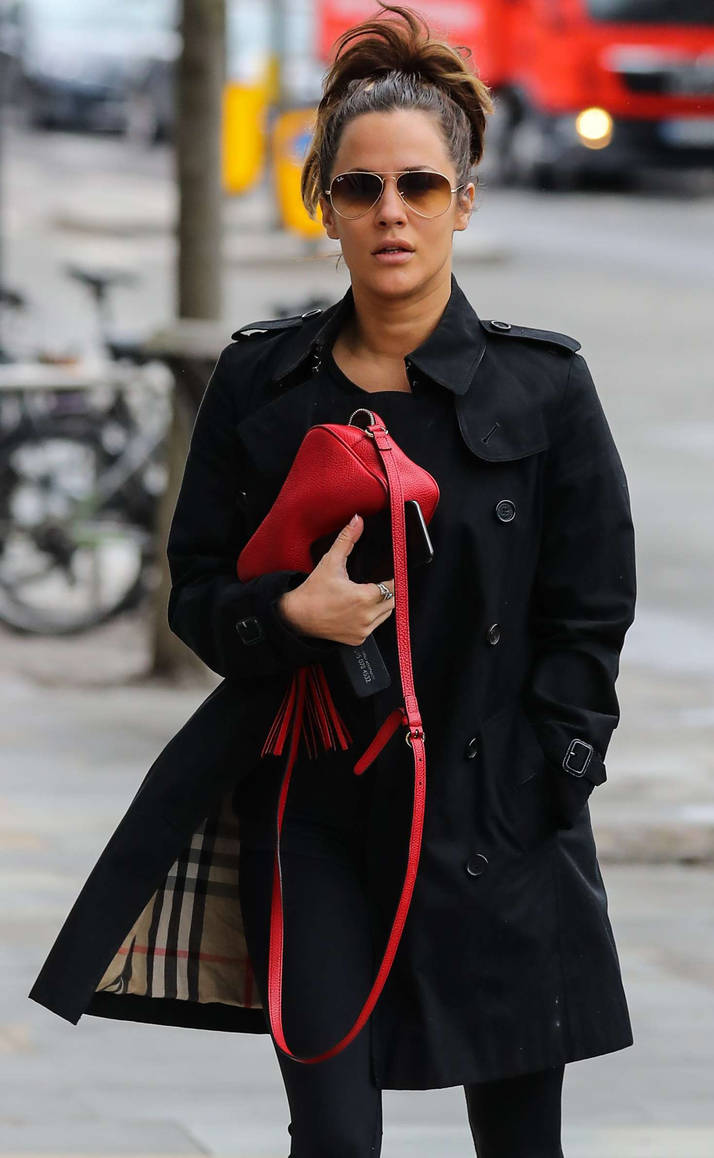 Caroline Flack - Heading to the gym in London