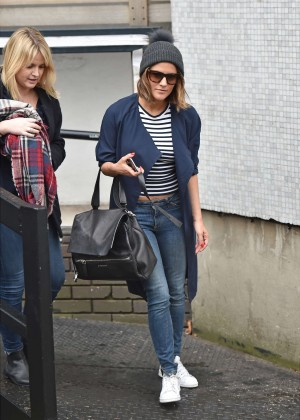 Caroline Flack in Jeans at London Studios
