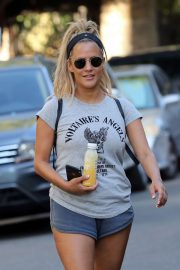 Caroline Flack in Shorts - Hads for a hike in Los Angeles