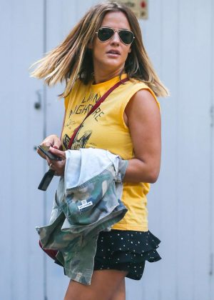Caroline Flack - Leaving her house in London