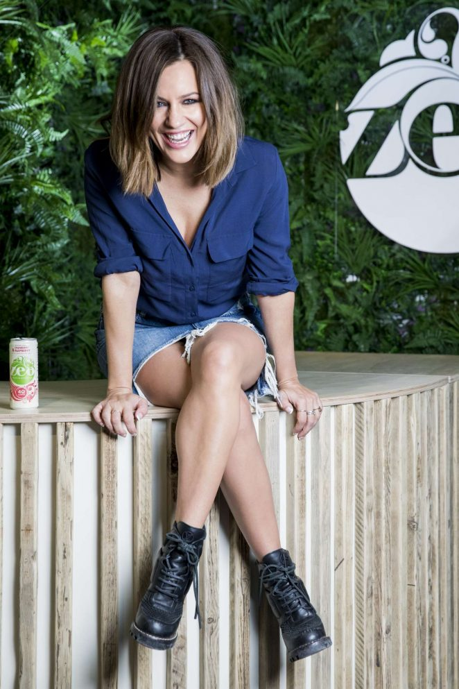 Caroline Flack Opens Zeo Dry Bar in London