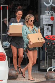 Caroline Flack - Shopping candids at a pharmacy in Ibiza