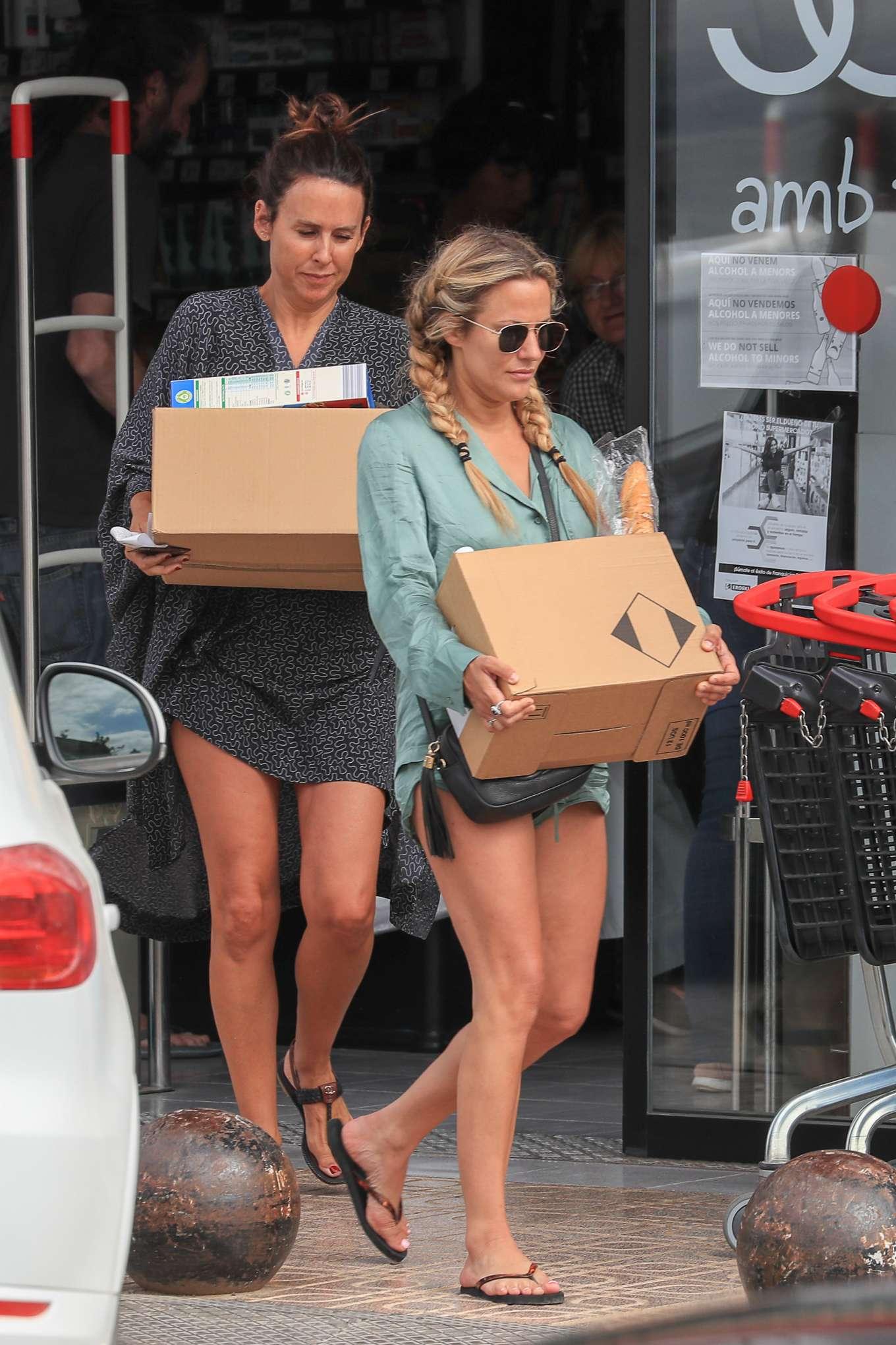 Caroline Flack - Shopping candids at a pharmacy in Ibiza