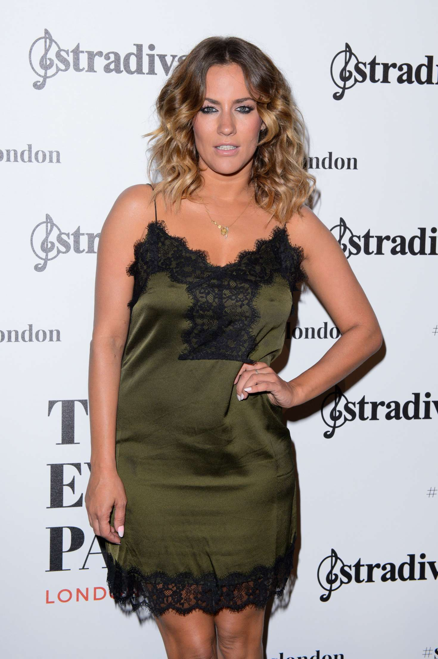 Caroline Flack - Stradivarius Cocktail Party SS 2017 in London