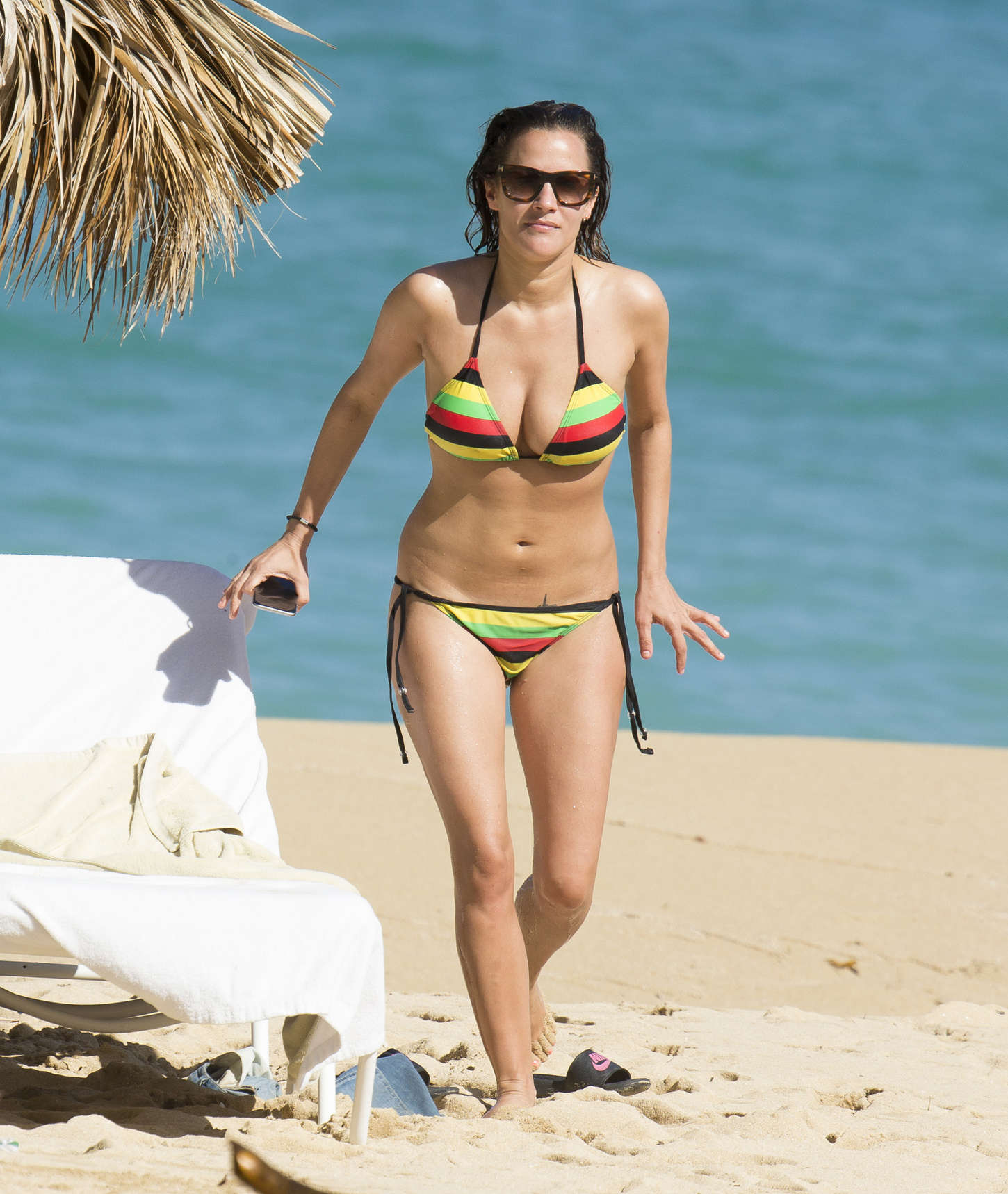 Caroline Flack in Bikini on the beach in Jamaica