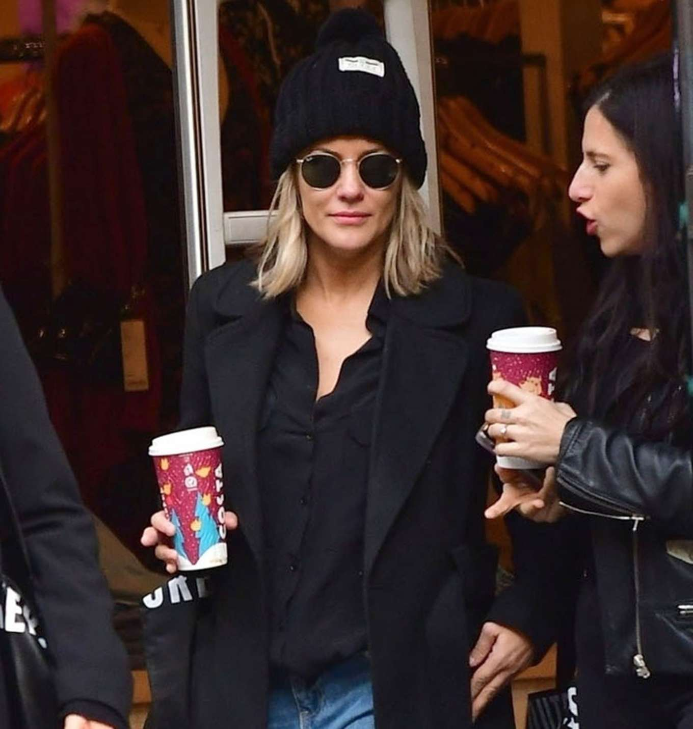 Caroline Flack 2019 : Caroline Flack with friends shopping in East London-03
