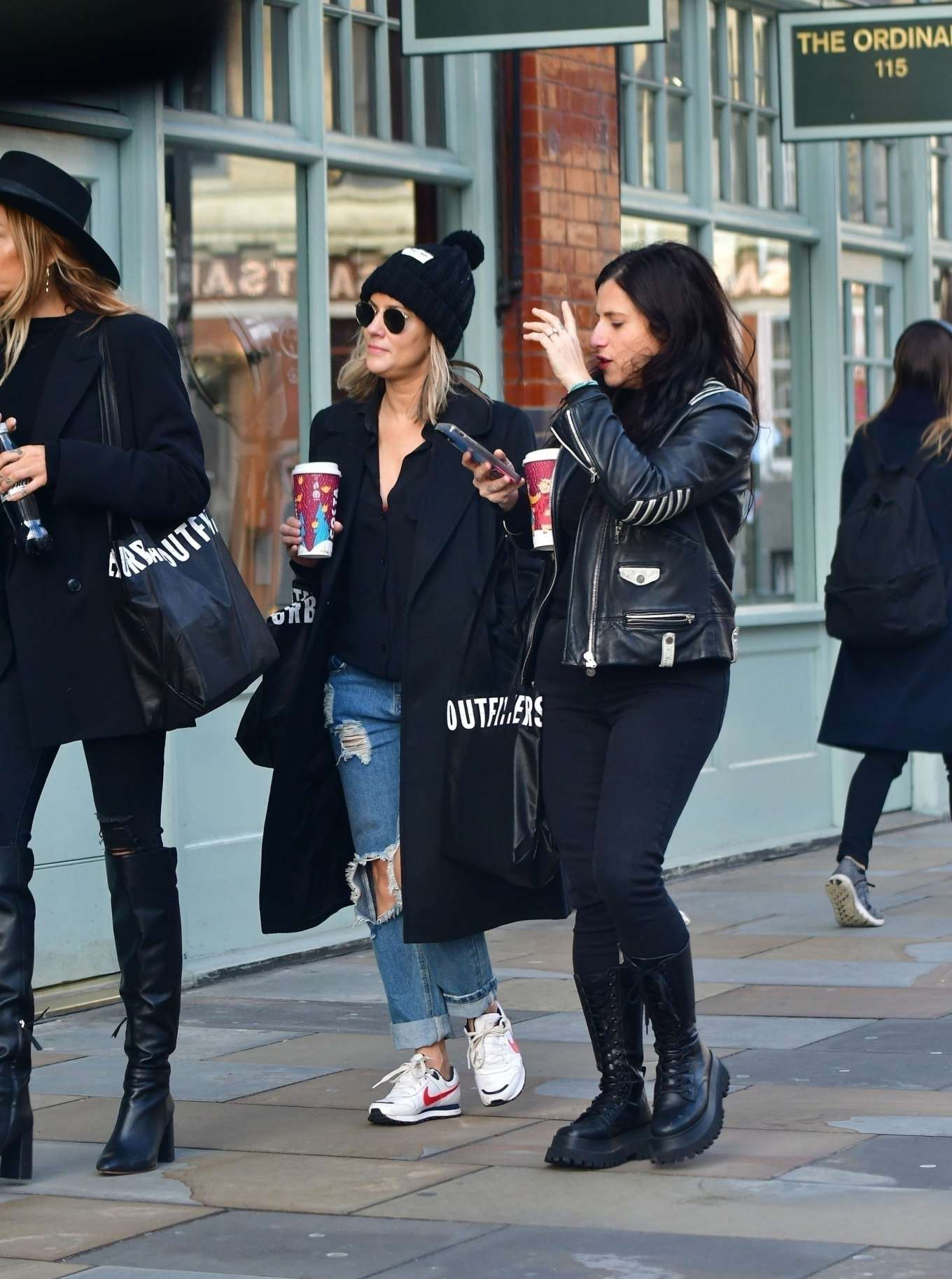 Caroline Flack 2019 : Caroline Flack with friends shopping in East London-08